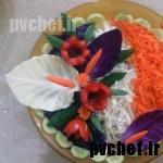 گل شقایق با گوجه فرنگی