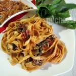 فتوچینی با سس سان دراید تومیتو – Sun dried Tomato Fettuccine