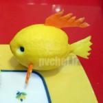 ماهی کارتونی با لیمو