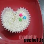 کاپ کیک قلبی،بدون قالب قلب