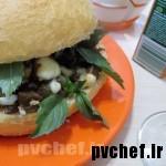 ساندویچ کاپوناتای بادمجان – eggplant caponata sandwich