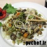 چیکن چامین – chicken chow mein – 炒面