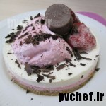 کِرِم موس توت فرنگی – strawberry cream mousse