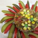 ریزوتوی تن ماهی و سبزیجات