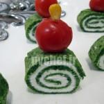 فینگر فود کرپ اسفناج و پنیر – spinach crêpe