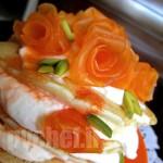 مربای هویج به شکل گل رز