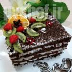 کیک شکلاتی، بدون شکلات